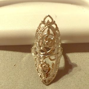 Jewelry - NWOT Sterling Silver Floral Design Statement Ring